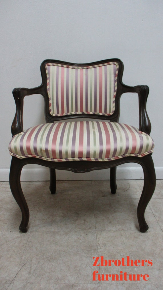 Vintage 1950s Baker Furniture French Living Room Arm Lounge Chair