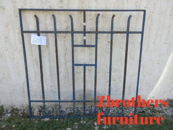 Antique Victorian Iron Gate Window Panel Fence Architectural Salvage Door #601