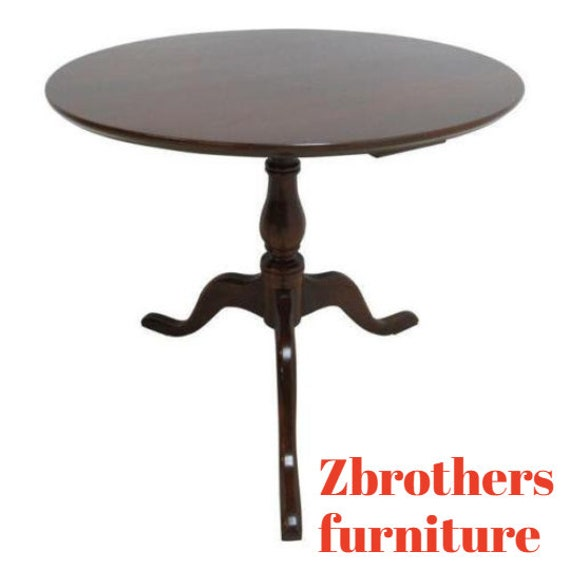 Harden Furniture Company Solid Cherry Pedestal Lamp End Table