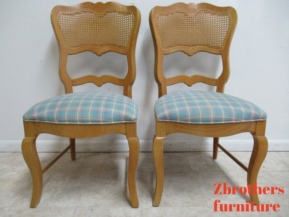 2 Century Furniture Oak French Country  Dining Room Cane  Arm Chairs A