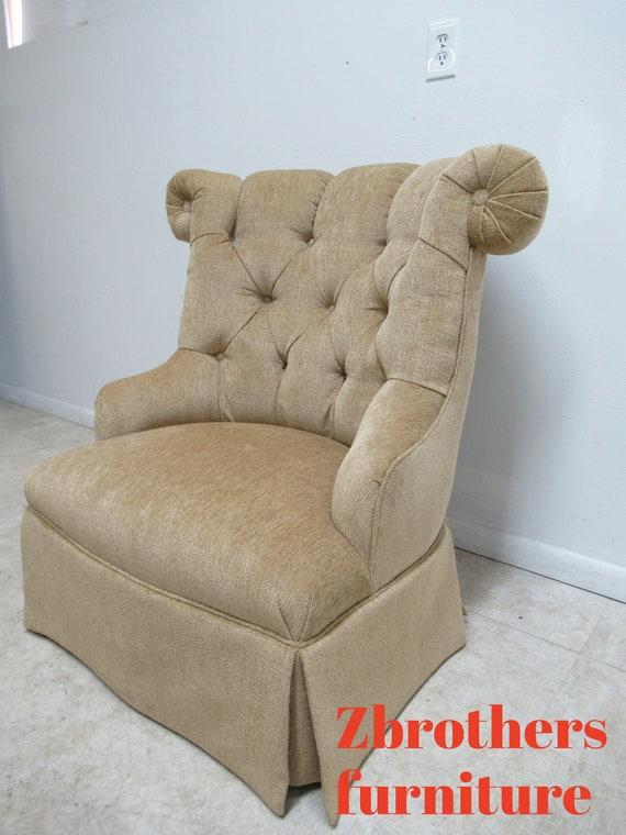Surprising Quality Custom Chesterfield Boudoir Lounge Slipper Chair Oversized Swivel B Creativecarmelina Interior Chair Design Creativecarmelinacom