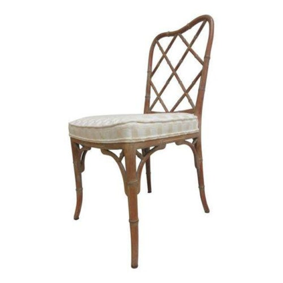 Vintage Italian Faux Bamboo Desk Side Chair A