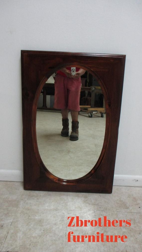 Ethan Allen Old Tavern Pine Console Dresser Hanging Wall Mirror