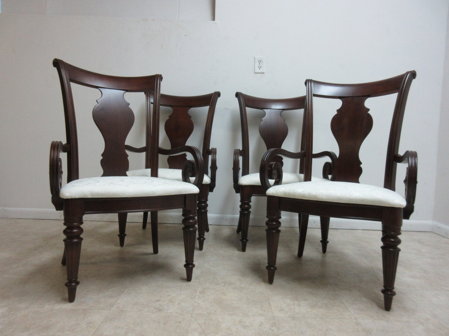 pennsylvania house cherry dining room furniture | Set of 4 Pennsylvania House Cherry Cortland Manor Dining ...