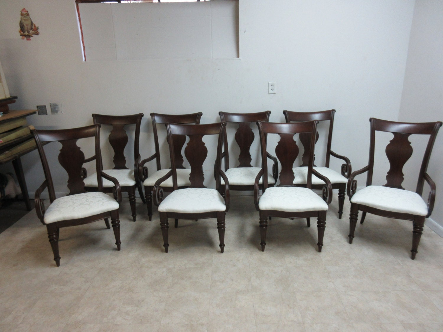 pennsylvania house cherry dining room furniture | Set of 8 Pennsylvania House Cherry Cortland Manor Dining ...