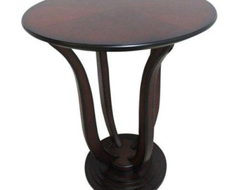 Bombay Company Cherry Bird Cage End Table Pedestal  B