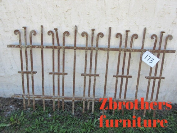 Antique Victorian Iron Gate Window Panel Fence Architectural Salvage Door #173