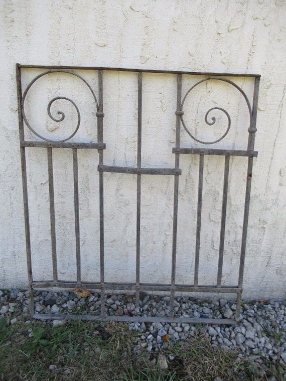 Antique Victorian Iron Gate Window Garden Fence Architectural | Etsy