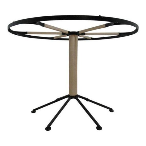 Vintage Mid Century Round Iron Pedestal Dining Table Base