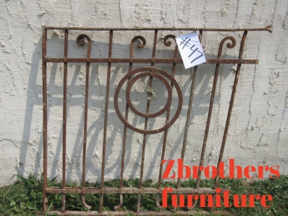 Antique Victorian Iron Gate Window Panel Fence Architectural Salvage Door #47