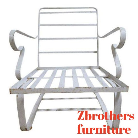 Vintage Mid Century Outdoor Patio Porch Spring Lounge Chair B