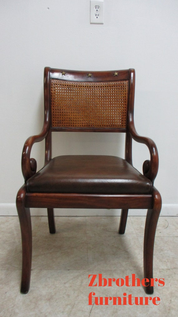 Theodore Alexander Double Cane French Regency Arm Chair A