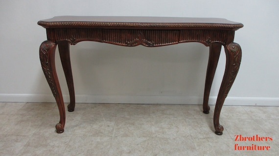 Thomasville French Carved Sofa Hall Foyer Table Console Regency