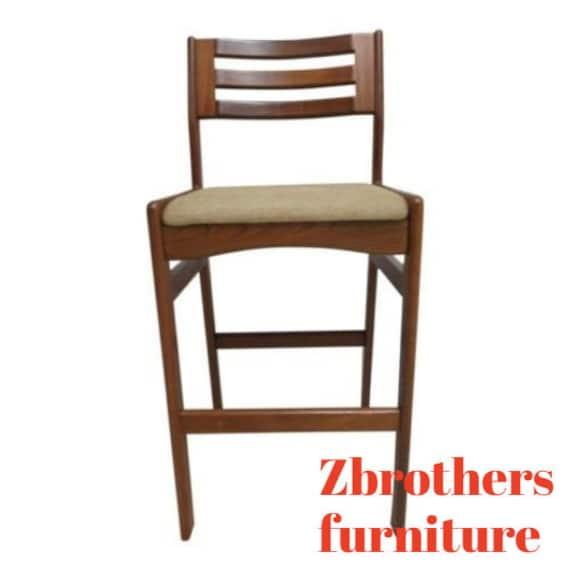 Incredible Danish Modern Teak Ladder Back Bar Counter Stools Mid Century Cjindustries Chair Design For Home Cjindustriesco
