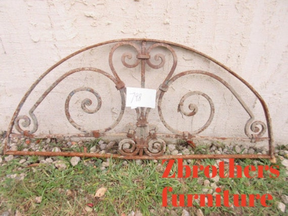 Antique Victorian Iron Gate Window Panel Fence Architectural Salvage #798