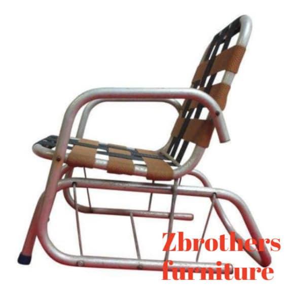 Vintage Mid Century Child's Aluminum Glider Porch Patio Chair