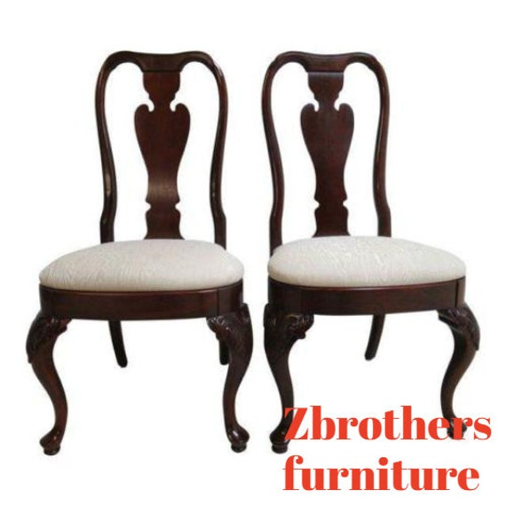 Pair of Knob Creek Dining Room Side Chairs Queen Anne A