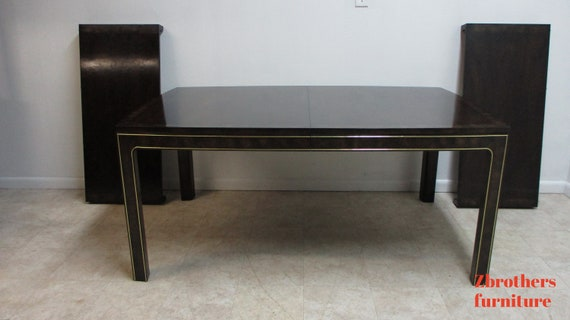 Vintage Mastercraft Amboyna Neo Classical Dining Room Banquet Conference Table
