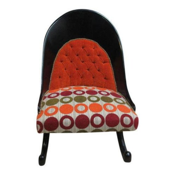 Funky Hollywood Regency Style Modern Scoop Back Fireside Lounge Club Chair BB