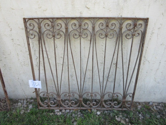 Antique Victorian Iron Gate Window Panel Fence Architectural Salvage #772