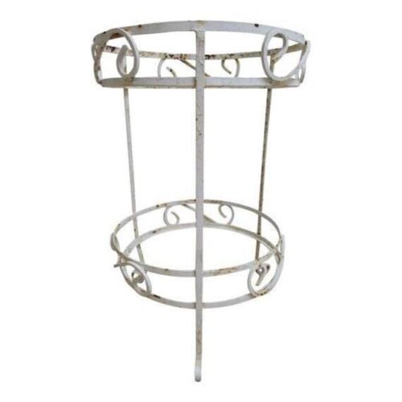 Vintage Mid Century Outdoor Patio Porch 2 Tier Lamp End Table B