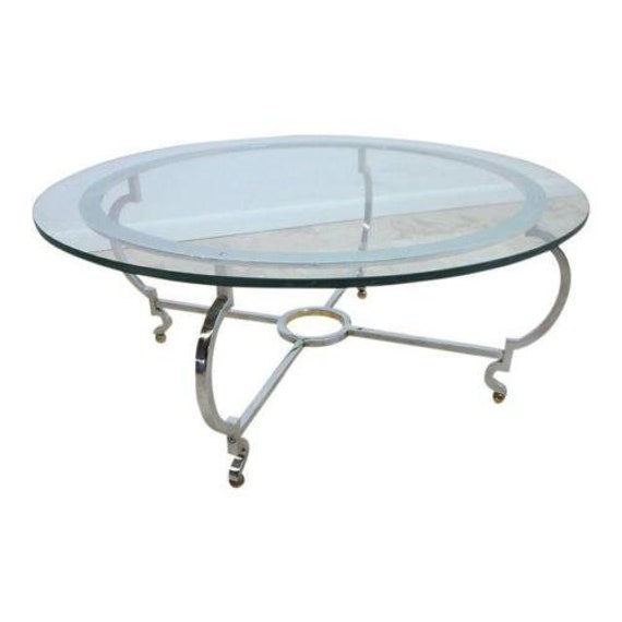 Etsy Round Coffee Tables: John Stuart Chrome Steel Round Coffee Table Spain Mid