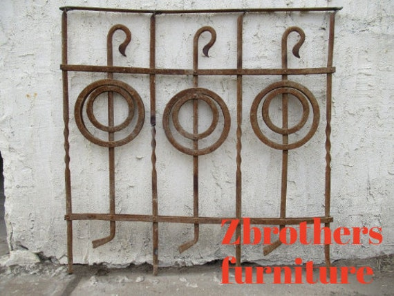 Antique Victorian Iron Gate Window Garden Fence Architectural Salvage Door #093