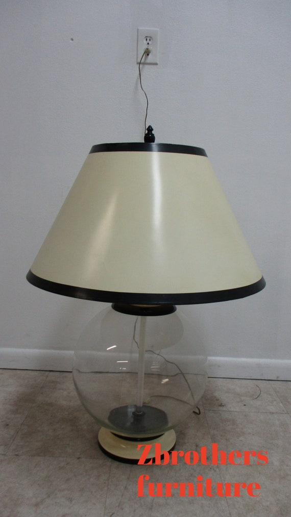 Mid Century Vintage Soap Bubble Orb Table Lamp Regency and shade