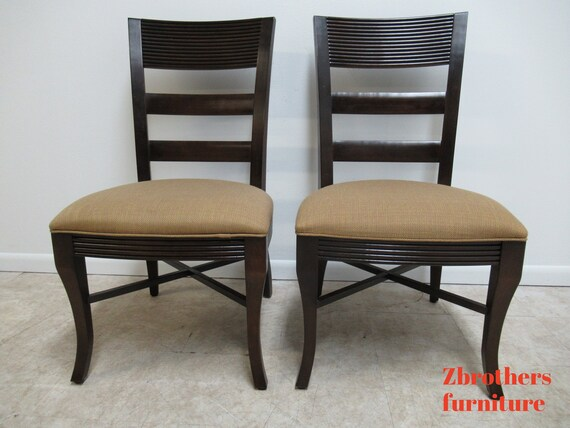Pair Nautica By Lexington Ladder Back Dining Room Side Chairs A