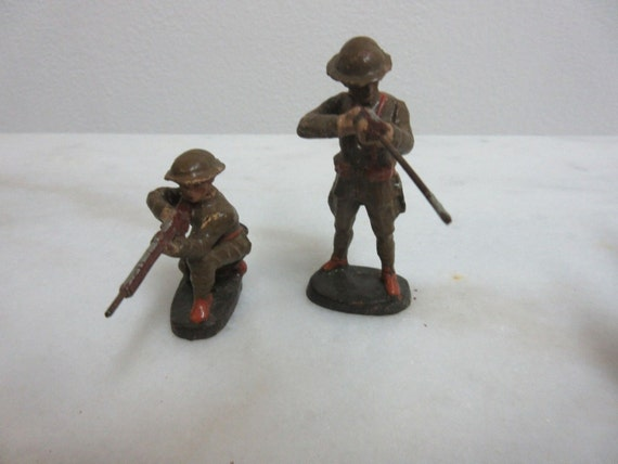 Vintage Elastolin Germany Army Soldier WW1 Rifleman Infantry Toy Figure