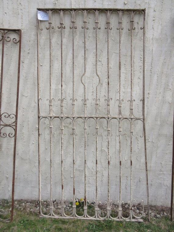 Antique Victorian Iron Gate Window Panel Fence Architectural Salvage Door #330