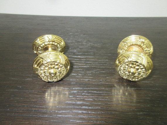 Vintage Solid Brass French Regency Louis XV Hardware Dresser Drawer Pulls F