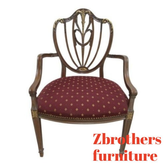 Baker Furniture Italian Regency Carved Arm Desk Chair