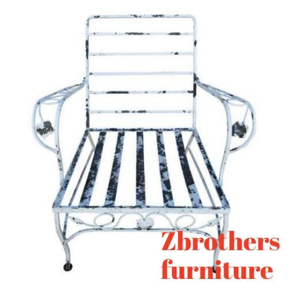 Vintage Outdoor Patio Porch Woodard Arm Lounge Chair