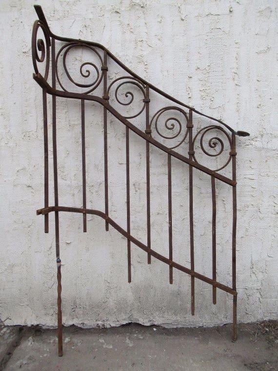 Antique Victorian Iron Gate Window Garden Fence Architectural Salvage Door #0102