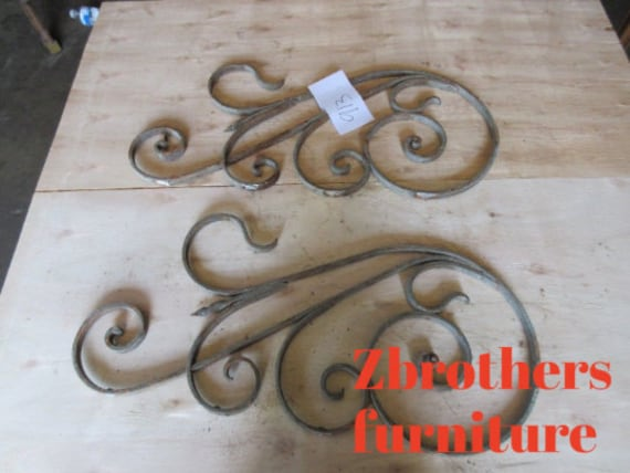Antique Victorian Iron Gate Window Panel Fence Architectural Salvage #913