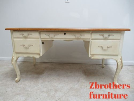 Ethan Allen Country French Writing Desk Paint Decorated Legacy