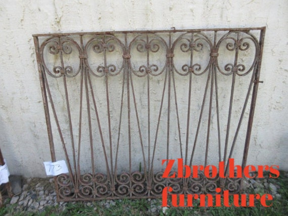 Antique Victorian Iron Gate Window Panel Fence Architectural Salvage #773