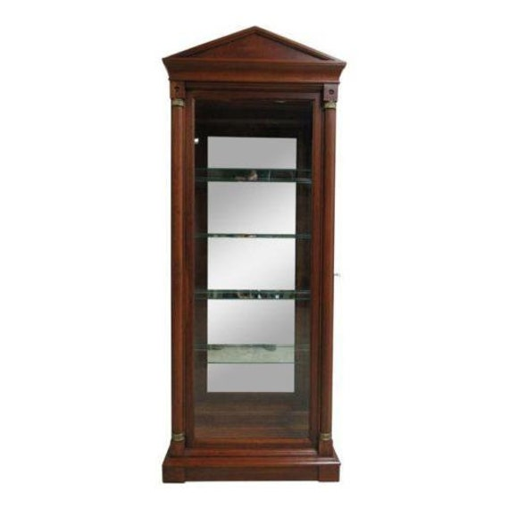 Ethan Allen Neo Classical Medallion Pediment Curio China Cabinet Hutch A
