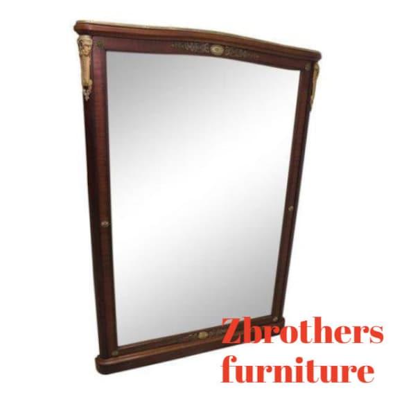 antique French inlaid mahogany ormalu dresser hall foyer sideboard mirror