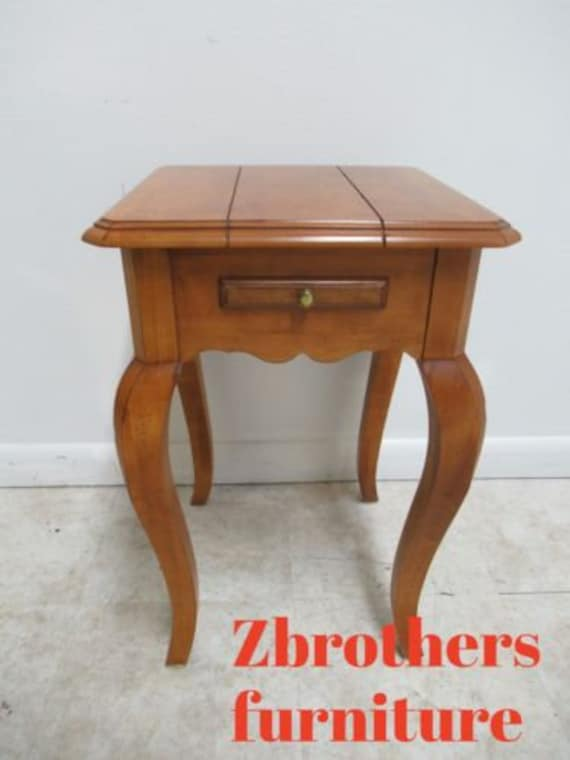 Ethan Allen Legacy Lamp End Table Petite Country French Pedestal A