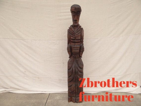 witco carved mid century 5.5 foot statue carving vintage