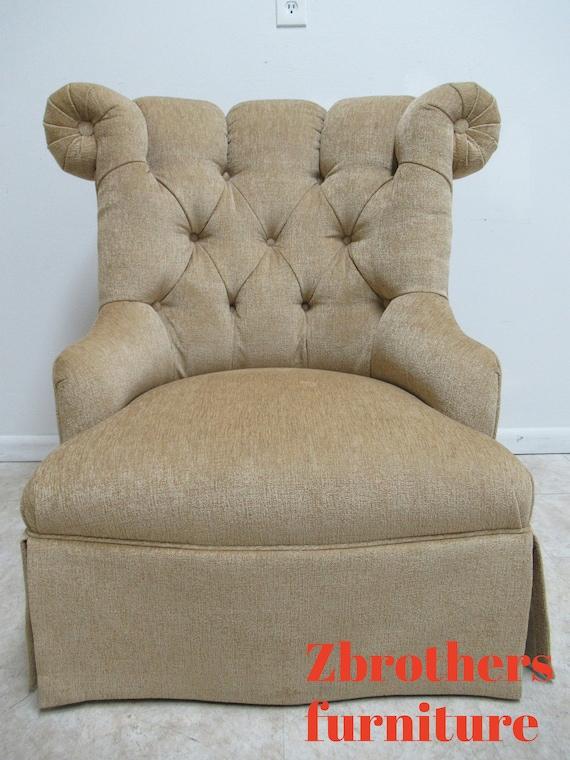 Quality Custom Chesterfield Boudoir Lounge Slipper Chair Oversized Swivel B