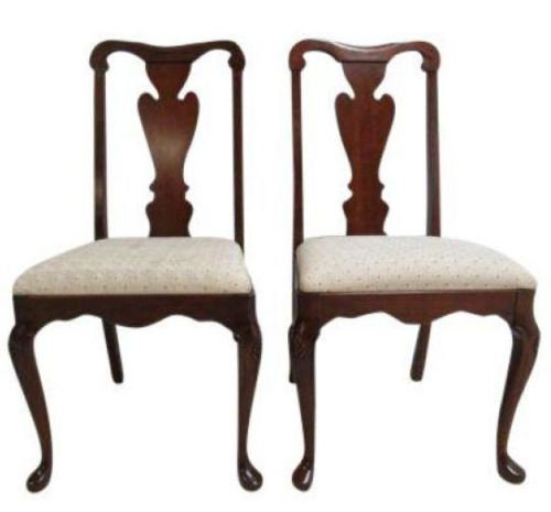 Pair Pennsylvania House Solid Cherry Chippendale Dining