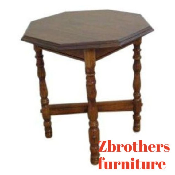 cherry traditional carved lamp end table