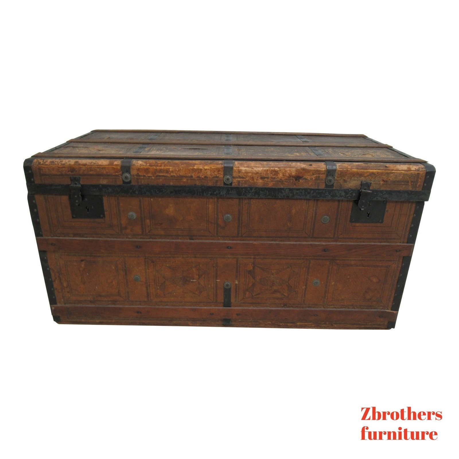 Excellent Antique Steamer Trunk Storage Chest Coffee Table Onthecornerstone Fun Painted Chair Ideas Images Onthecornerstoneorg