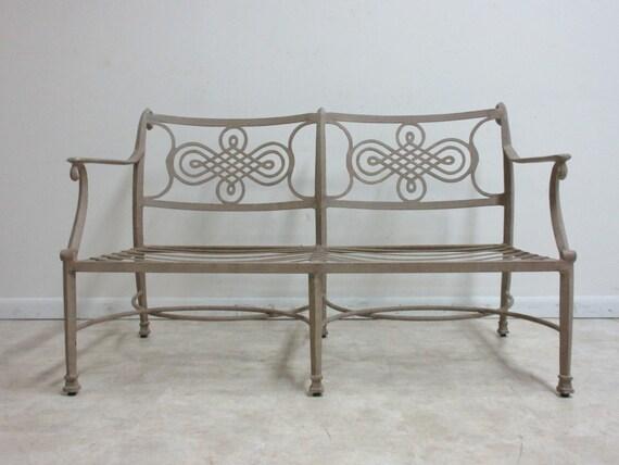 Woodard Landgrave Cast Classics Aluminum Patio Porch Outdoor Sofa Loveseat