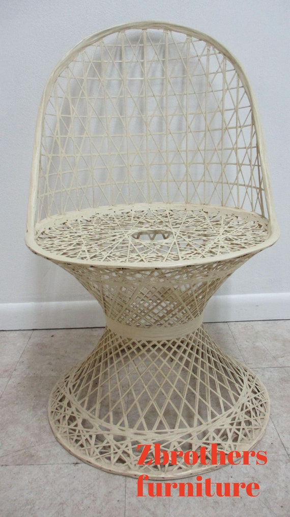 Russell Woodard Spun Fiberglass Patio Side Chair Vintage Mid Century B