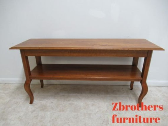 Ethan Allen Legacy Country French Sofa Hall Foyer Table Console