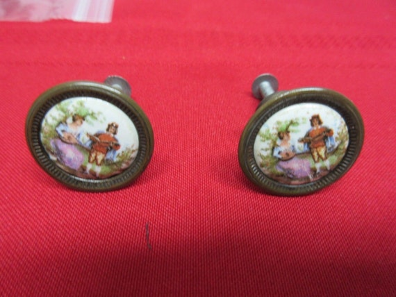 Vintage L Hitchcock Dresser Desk Drawer Pulls Handle Hardware A